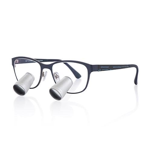 Lupas binoculares 3.2x con montura Morriz azul