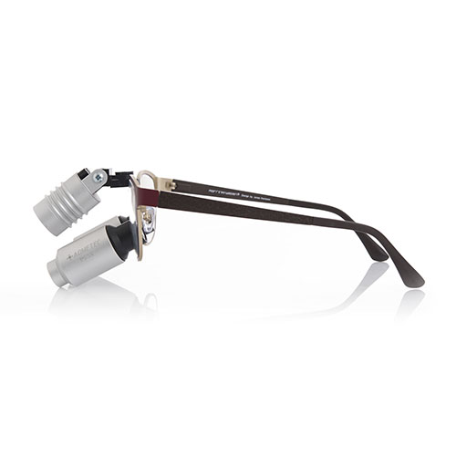 Montura de lupas binoculares para odontólogos Morriz roja