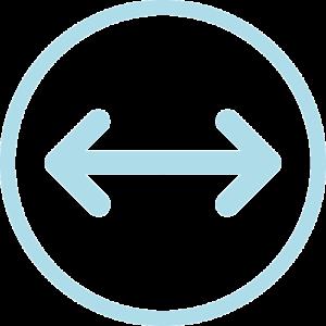 Icono de distancia de trabajo para elegir lupas binoculares